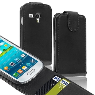 BasAcc Black Leather Case/ Holder for Samsung Galaxy S3 Mini I8190