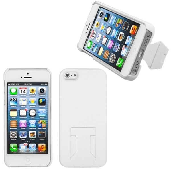 INSTEN White Back Protector Phone Case Cover With Stand for Apple iPhone 5
