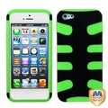 BasAcc Black/ Electric Green Fishbone Case for Apple� iPhone 5