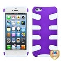 BasAcc Grape/ Solid White Fishbone Case for Apple� iPhone 5
