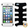 BasAcc Black/ Clear Rubberized Fishbone Case for Apple� iPhone 5