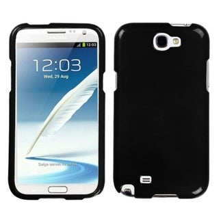 INSTEN Solid Black Phone Protector Phone Case Cover for Samsung Galaxy Note II