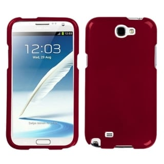 INSTEN Solid Red Phone Protector Phone Case Cover for Samsung Galaxy Note II