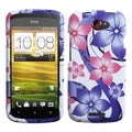 BasAcc Pink Hibiscus Flower Romance Case for HTC One S