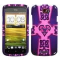 BasAcc Purple Celtic Heart Cross Case for HTC One S