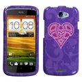 BasAcc Purple Celtic Heart Knot Case for HTC One S