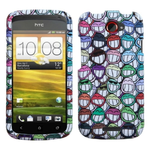 INSTEN All Smiles Phone Case Cover for HTC One S