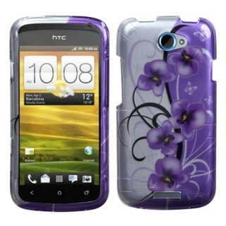 BasAcc Twilight Petunias 2D Silver Case for HTC One S