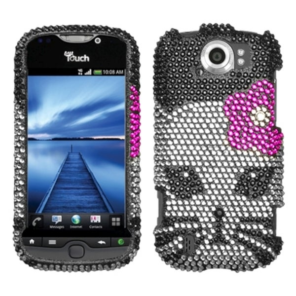 INSTEN Kitty Diamante Phone Case Cover for HTC myTouch 4G Slide