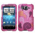 BasAcc Spiral Hearts Diamante Case for HTC Inspire 4G
