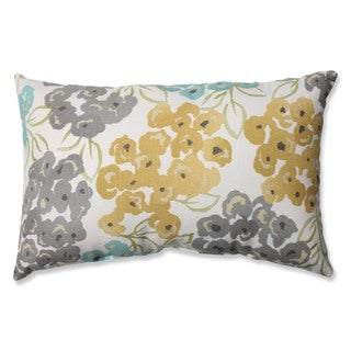Pillow Perfect Luxury Floral Pool Rectangular Throw Pillow
