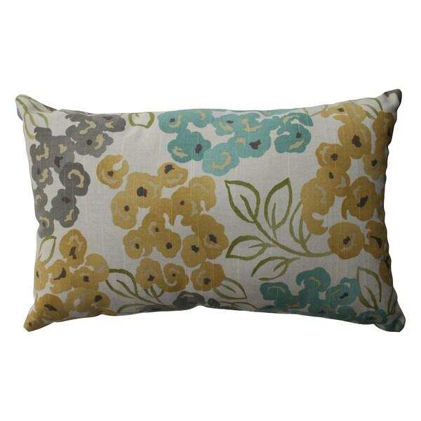 Pillow Perfect Luxury Floral Pool Rectangular Throw Pillow