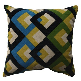 Pillow Perfect Overlap Geo Navy 16.5-inch Throw Pillow