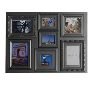 Mellanco Pewter 7-opening Collage Photo Frame