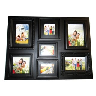 Mellanco 7-opening Multiple Profile Black Collage Photo Frame