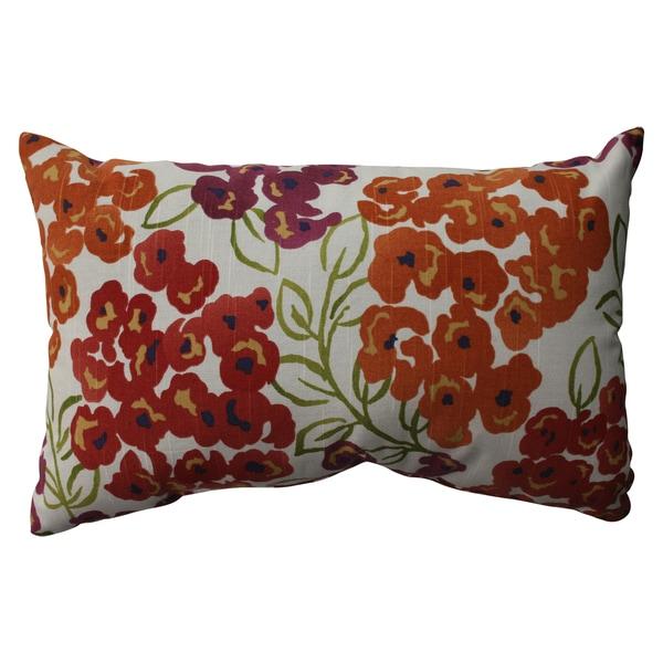 Pillow Perfect Luxury Floral Poppy Rectangular Throw Pillow