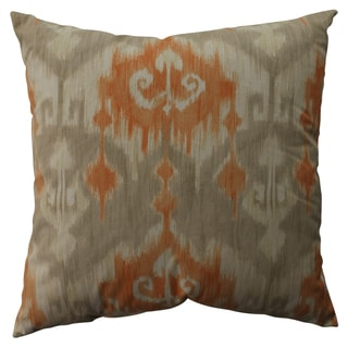 Pillow Perfect Marlena Ikat Orange 23-inch Decorative Pillow