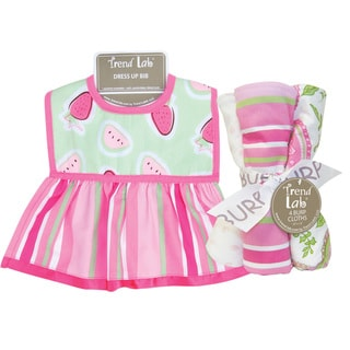 Trend Lab Juicie Fruit Dress Up Bib and 4-piece Burp Cloth Set