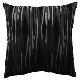 Pillow Perfect Kasuri Charcoal 18-inch Throw Pillow