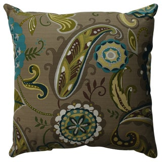 Pillow Perfect Merrimack Suzani 18-inch Throw Pillow