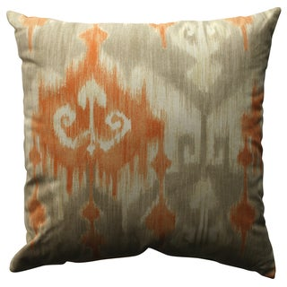 Pillow Perfect Marlena Ikat Orange 18-inch Throw Pillow