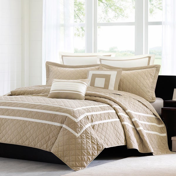 Madison Park Columbia 7-piece Quilted Coverlet Set