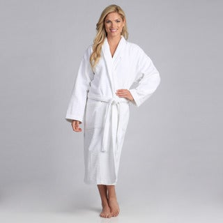 Spa Shawl Collar Full Length Cotton Bath Robe