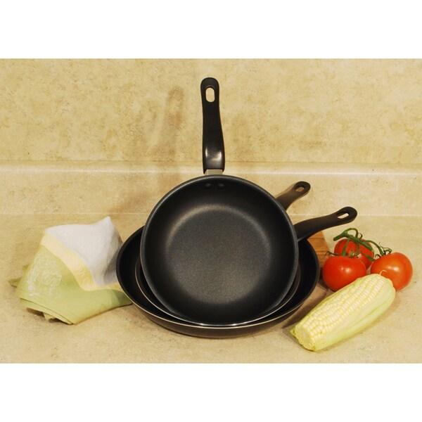 3-Piece Non-stick Aluminum Fry Pan Set
