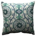 Pillow Perfect Suzani Damask Green 18-inch Throw Pillow