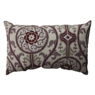 Pillow Perfect Suzani Damask Plum Rectangular Throw Pillow