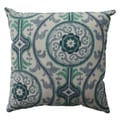 Pillow Perfect Suzani Damask Green 16.5-inch Throw Pillow