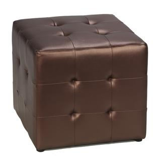Cortesi Home Dark Cooper Metalic Cube Ottoman