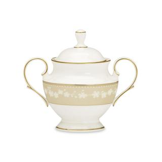 Lenox Bellina Gold Sugar Bowl With Lid