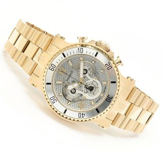 Renato Men's 'T-Rex' Goldtone Diver Swiss Quartz Chronograph Watch