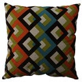 Pillow Perfect Overlap Geo Turquoise 23-inch Decorative Pillow