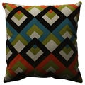 Pillow Perfect Overlap Geo Turquoise 18-inch Throw Pillow