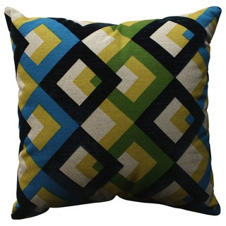 Pillow Perfect Overlap Geo Navy 18-inch Throw Pillow