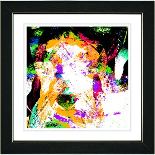 Studio Works Modern 'Sandstorm - Orange' Framed Art Print