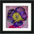 Studio Works Modern 'Floral Flair - Blue' Framed Art Print