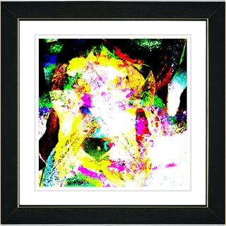 Studio Works Modern 'Sandstorm - Yellow' Framed Art Print