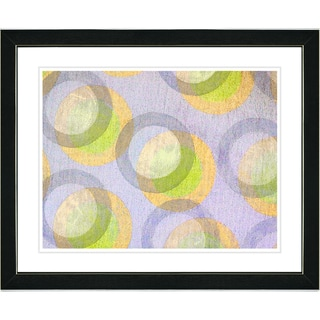 Zhee Singer 'Circle Series - Pastel Citrus' Black Framed Art Print