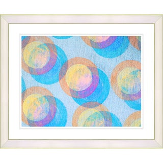 Zhee Singer 'Circle Series - Bubblegum' WhiteFramed Art Print