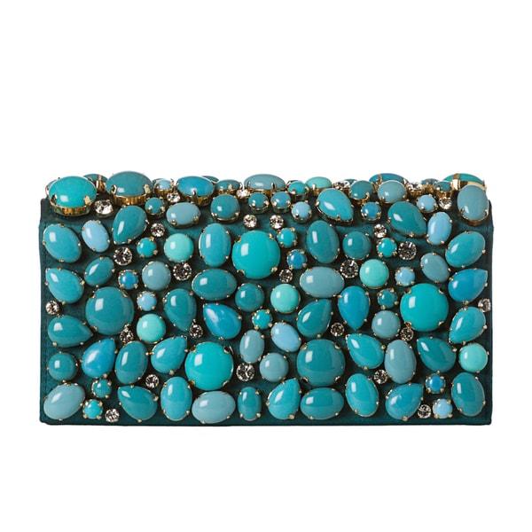 Prada Stone Embellished Raso Clutch