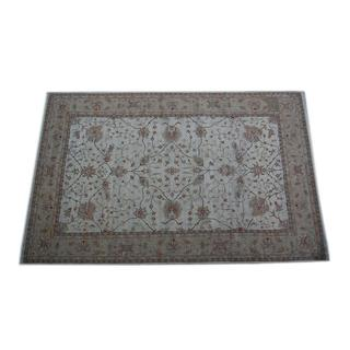 Indo Hand-knotted Ivory/ Light Brown Vegetable Dye Wool Rug (13'9 x 20'11)