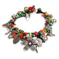 Mythical Garden One of a Kind Thai Karen Silver Bracelet (Thailand)