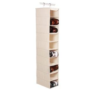 Richards Homewares Canvas 10-Compartment Hanging Men's Shoe Organizer