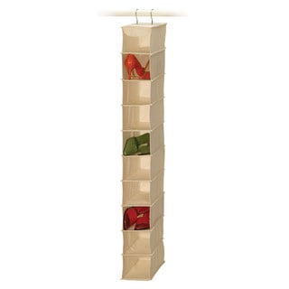Richards Homewares Canvas 10-Compartment Hanging Shoe Organizer