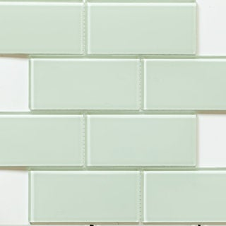 Martini Mosaic 'Blocco' Mint Glass 14.75 x 11.75-inch Tile Sheets (Set of 10 sheets)