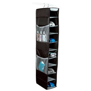 Richards Homewares Gearbox 10-Shelf Black/Grey Hanging Shoe Organizer