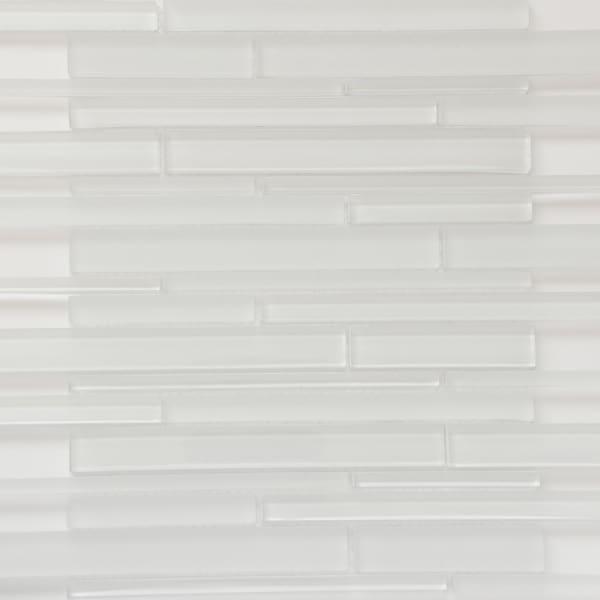 "Martini Mosaic Strada Crystal Ice Glass 14-1/4""x12-3/4"" Tile Sheets (Set of 6)"